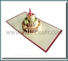 Pop up 3D birthday greeting card