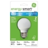 GE Energy Smart 10W Replacement 2W Globe G16.5 LED Bulb Warm, White