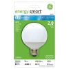 10W Replacement 2.8W Globe G25 LED Bulb Warm, White-GE Energy Smart