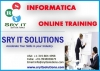 Informatica Online Training Provided by 8 + years of Real time Consultant | SRY IT Solutions